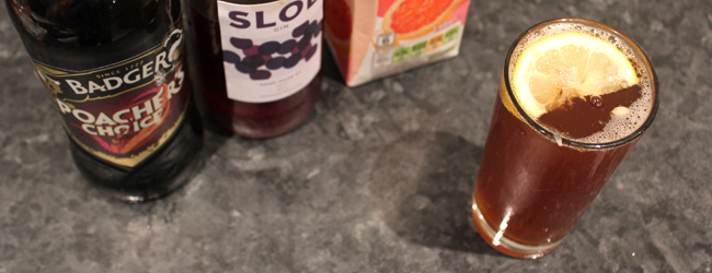 Sloe Badger Beer Cocktail