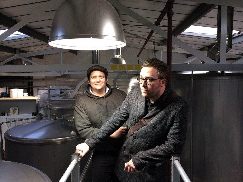 Danny Wallace at Truman's Brewery - with Head Brewer Benedikt Ott
