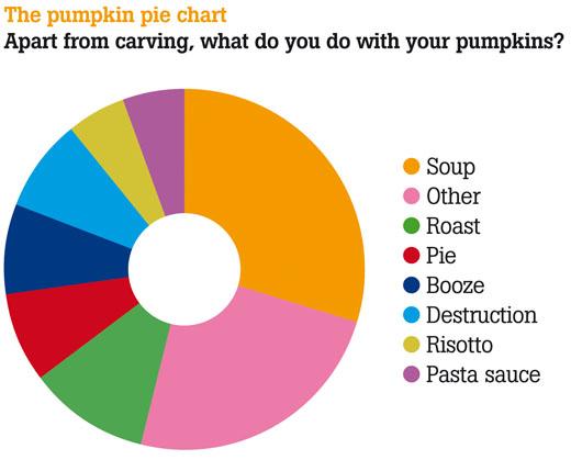 pumpkin pie chart