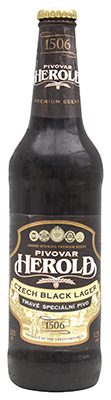 pivovar herald black lager bottle