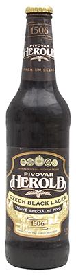 pivovar herald black lager bottle