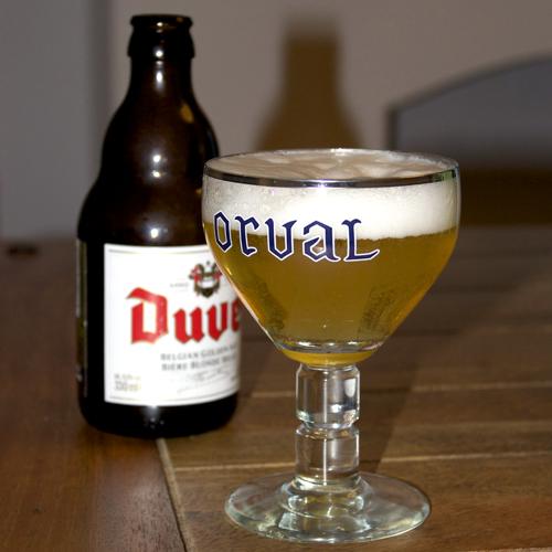 Duvel Poured in Belgian Glass