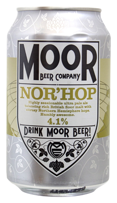 Can of moor brewing nor hop pale ale