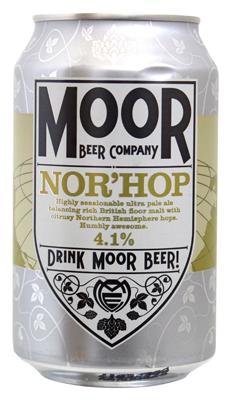 Can of moor brewing nor hop pale ale
