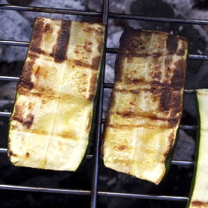 How to barbecue courgette