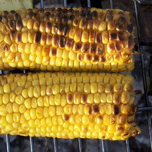 How to barbecue sweetcorn