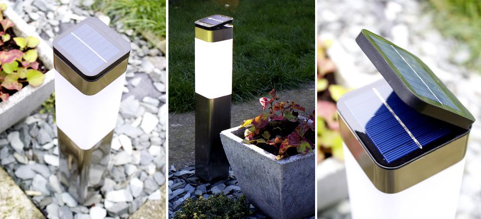 solar post light stainless steel