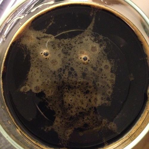 Omnipollo black beer in glass