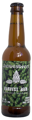 st andrews brewing co harvest beer bottle