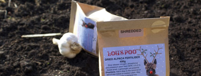 alpaca poo garden fertiliser