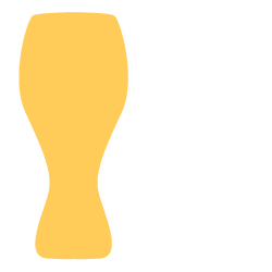 Wheat Beer Glass Illustration