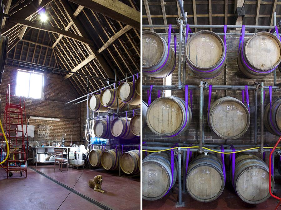 wine barrels langham