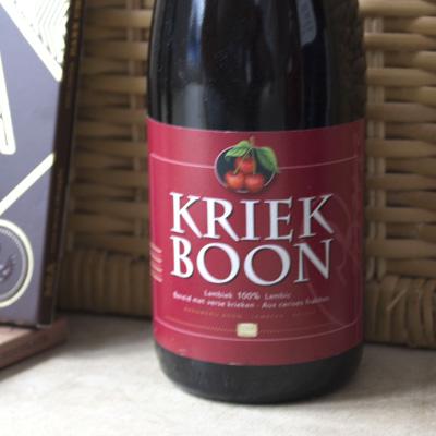 boon kriek bottle label