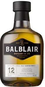 Balblair whisky bottle