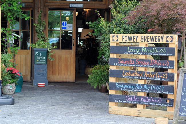 Fowey brewery beer Lostwithiel