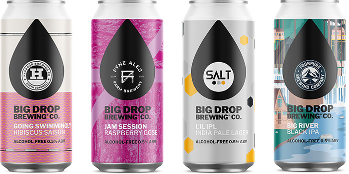 BigDrop alcohol free cans beer