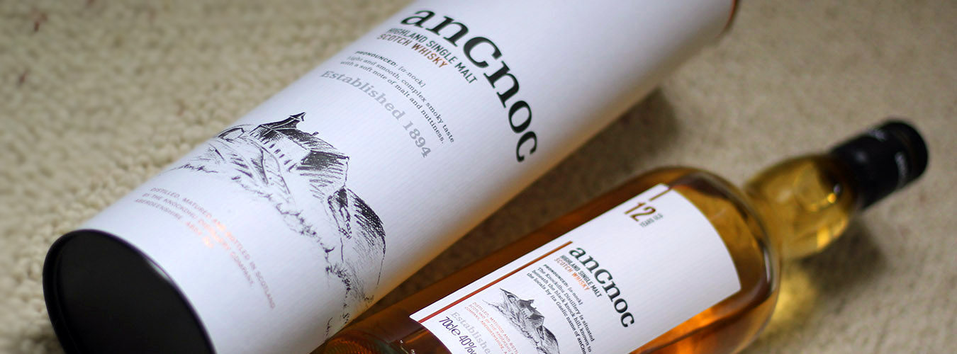 bottle of ancnoc whisky